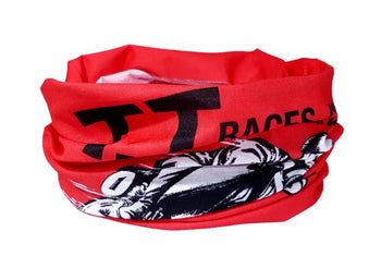 Isle of Man TT Neck Gaiter RUFFNEK® One Size / Red