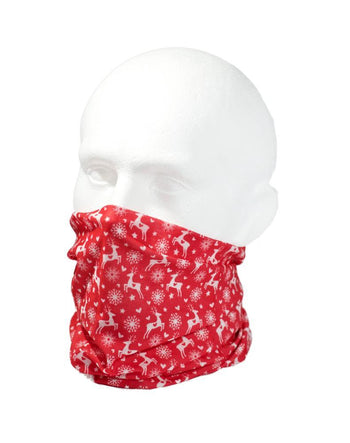 Red Reindeer Multifunctional Scarf RUFFNEK® Red/White