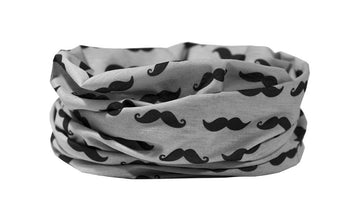 Moustache Multifunctional Scarf RUFFNEK® Grey/Black