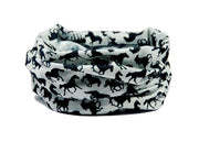 Black & Grey Horse Design Multifunctional Scarf RUFFNEK® Black/Grey