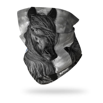 Wild Pony Multifunctional Scarf RUFFNEK® Black/Grey