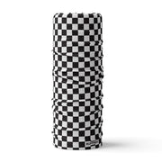B&W Chequerboard Multifunctional Scarf RUFFNEK® Black & White Chequerboard