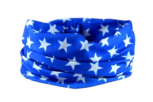 Blue Star Multifunctional Scarf RUFFNEK® Blue/White