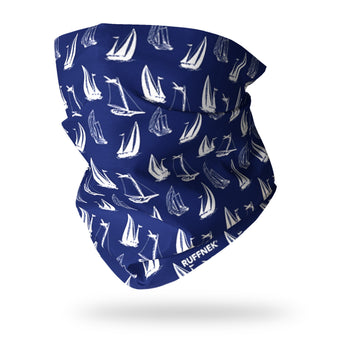 Sailing Boats Multifunctional Scarf RUFFNEK® Blue/White