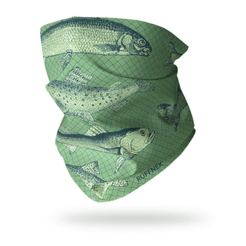 Vintage Trout Snood Scarf Multifunctional Scarf RUFFNEK® Green