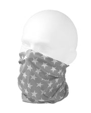 Grey Star Multifunctional Scarf RUFFNEK® Grey/White