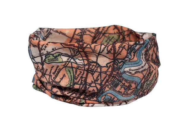 London Vintage Map Multifunctional Scarf RUFFNEK® Multicolour