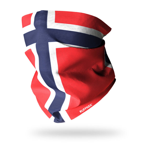 Flag of Norway Multifunctional Scarf RUFFNEK® Red/Blue/White