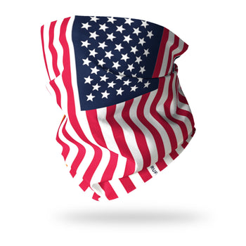 Flag of USA / Stars & Stripes Multifunctional Scarf RUFFNEK® Red white blue