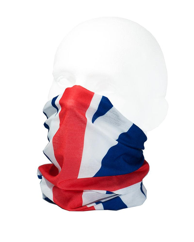 MISPRINTED  Union Jack Flag Multifunctional Scarf RUFFNEK® Red/White/Blue
