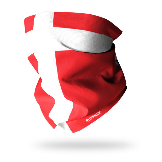 Flag of Denmark Multifunctional Scarf RUFFNEK® Red/White