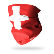 Flag of Switzerland/Swiss Flag Multifunctional Scarf RUFFNEK® Red/White
