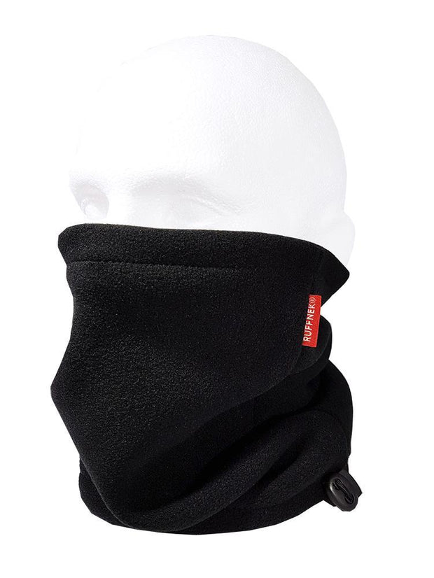 Black Pro Zero Fleece Neckwarmer Neck Gaiter RUFFNEK® Black