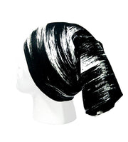 Black Rush Pro Zero Neckwarmer Neck Gaiter RUFFNEK® Black & White