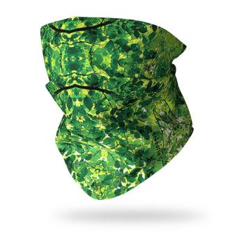 Green Leaves Camo Neck Gaiter RUFFNEK® Green