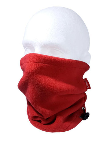 Red Pro Zero Fleece Neckwarmer Neck Gaiter RUFFNEK® RED