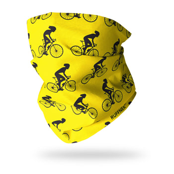 Cyclists Yellow Neck Gaiter RUFFNEK® Yellow
