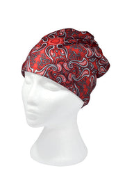 Red Paisley Multifunctional Scarf RUFFNEK® Red/Black