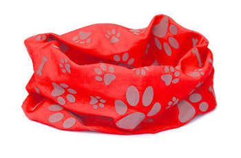 Reflective Dog Scarf/Bandana! Red Dog Scarf RUFFNEK® Red