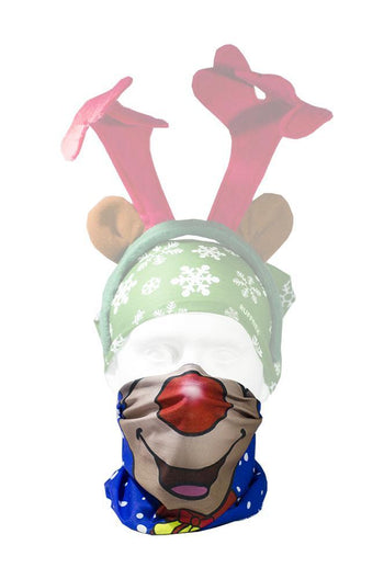 Rudolph Face Neck Gaiter RUFFNEK® Blue/Brown