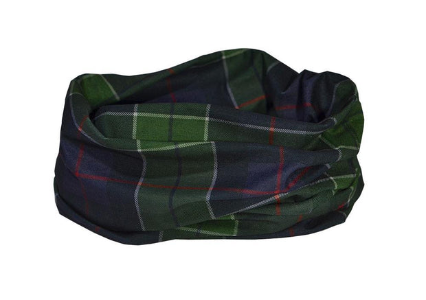 Scottish Hunting Tartan Multifunctional Scarf RUFFNEK® Navy Blue/Green