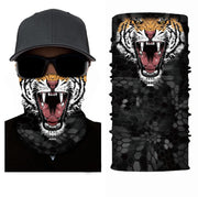 Tiger Face Mask Ski Scarf RUFFNEK® Black