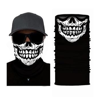 Skull Face Mask Neck Gaiter RUFFNEK® Black