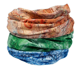 The National Three Peaks Multifunctional Scarf RUFFNEK® Beige/Green/Blue