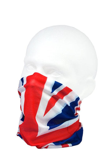 Union Jack Flag Multifunctional Scarf RUFFNEK® Red/White/Blue