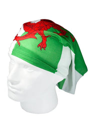 Welsh Flag / Y Ddraig Goch Multifunctional Scarf RUFFNEK® Red/Green/White