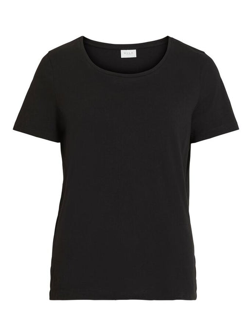 Camiseta Visus Manga Corta Negra Sustainable
