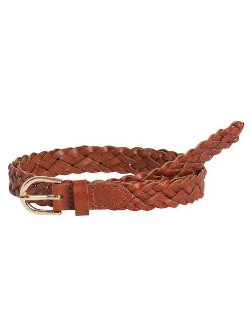 PCAVERY LEATHER BRAIDED SLIM BELT NOOS PIECES