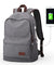 Vintage Canvas Backpack for Laptop with USB Charging Port