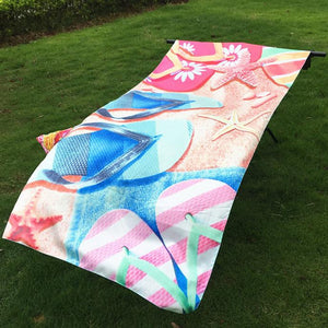 Sandals velour beach towel