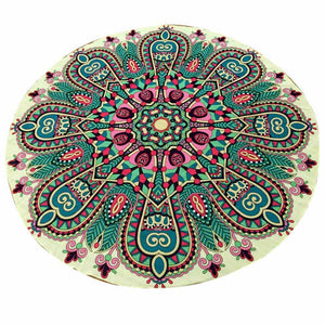 Round Hippie Chiffon Tapestry Beach Throw
