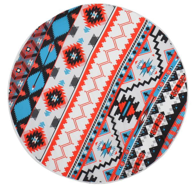 Round Hippie Tapestry Beach Throw Roundie Mandala Towel Yoga Mat
