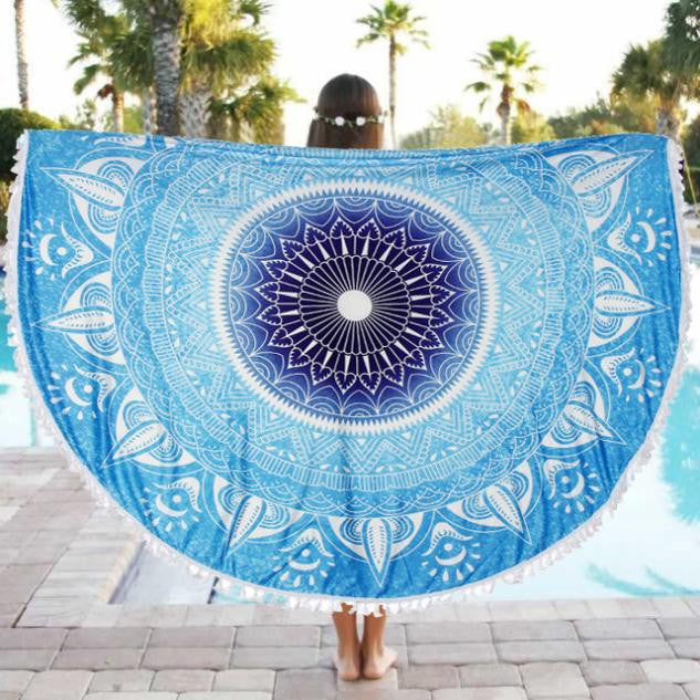 Round Beach Throw & Cover Up