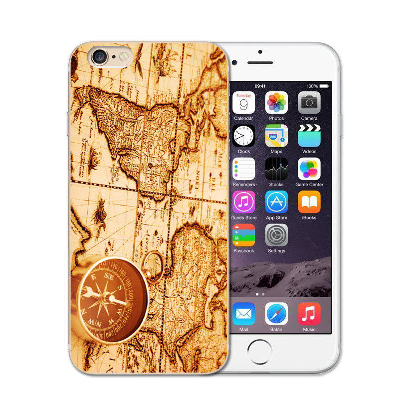 Time World Map Phone Case
