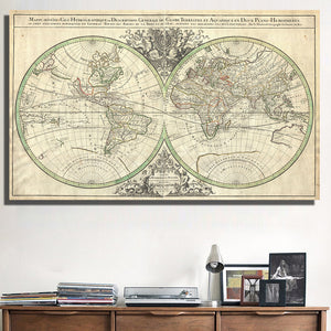 Maps traveltify the retro global world map canvas gumiabroncs Image collections