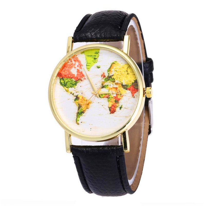⌚ Colorful World Map Watches (6 variants)