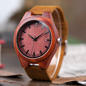 ⌚ BELLONA Red Wooden Watches
