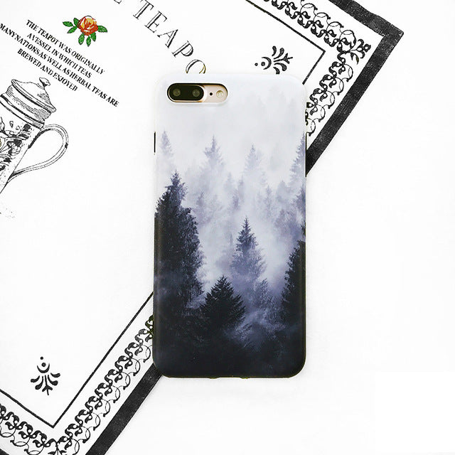 Mountain Forest Clouds Phone Case