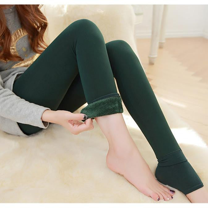 Women Warm Winter Fleece Lined Thermal Leggings Pants