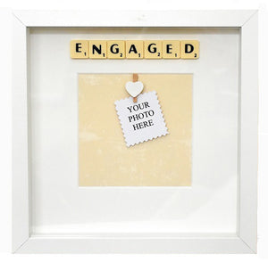 ENGAGED - Handmade Scrabble Photo Box Frame