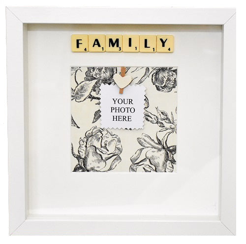 FAMILY - Handmade Scrabble Photo Box Frame