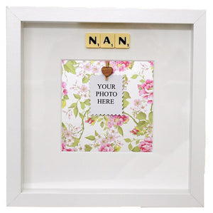 NAN - Handmade Scrabble Photo Box Frame