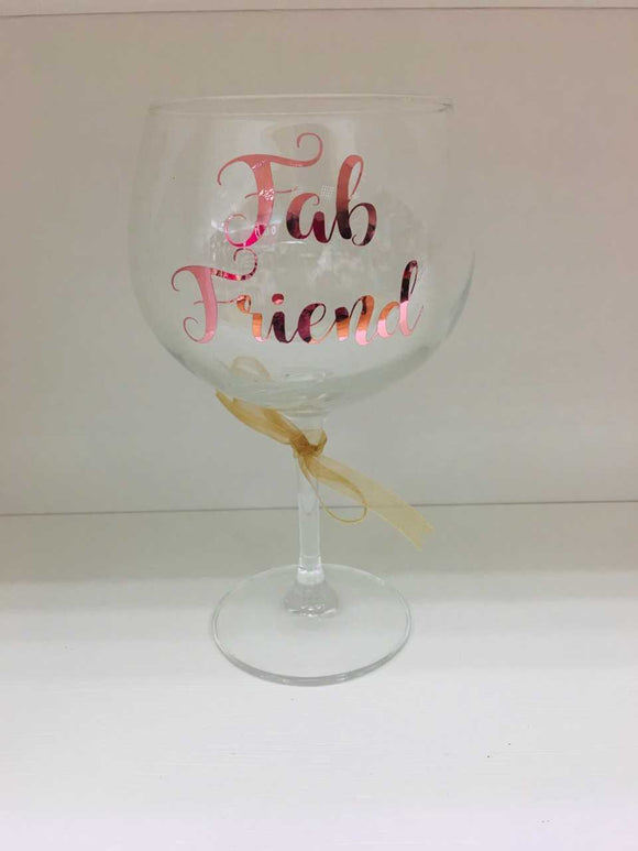 'Fab Friend' Large Gin Glass