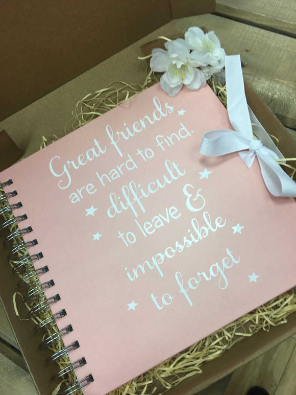 'Great Friends Are Hard To Find' Memory Scrapbook