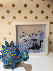 Saving For A Dinosaur  Fund Frame/Money Box