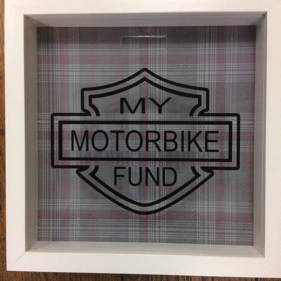 My Motorbike Fund Frame/Money Box